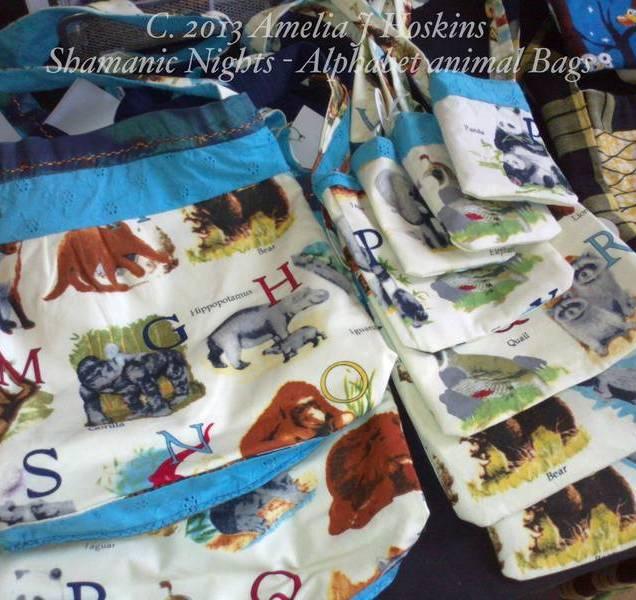 Alphabet animal bags