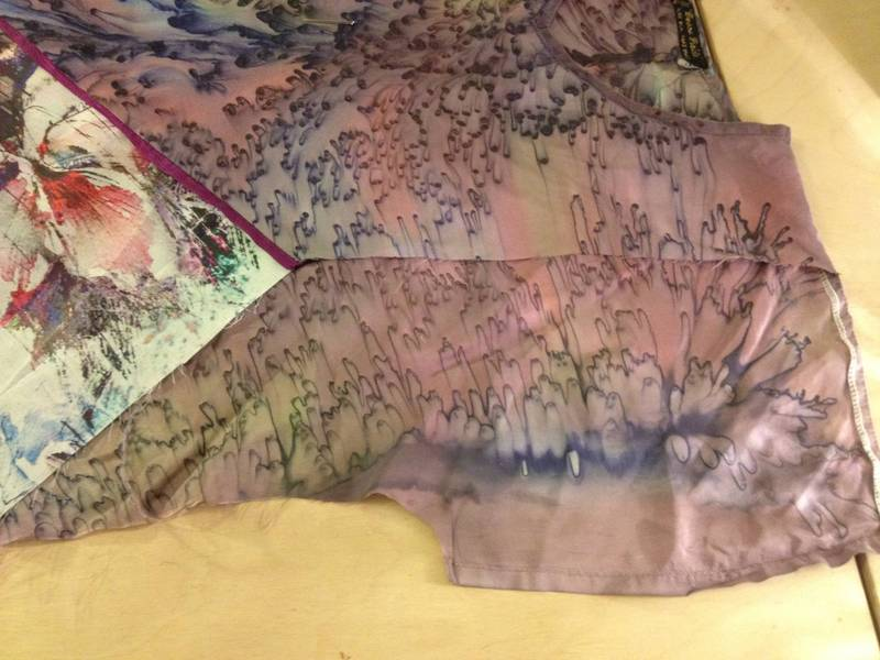 Front sleeve cut away shows back silk top orginal sleeve