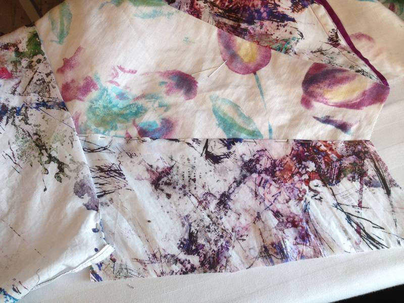 Joining cotton and linen panels
