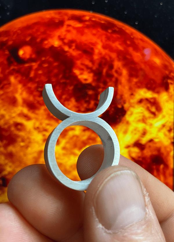 astrologie stier symbool ring venus spirituele sieraden edelsmederij shambala