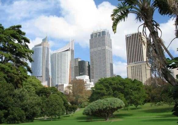 Небоскребы в центре Сиднея.