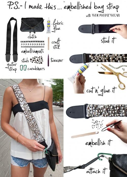 psimadethis - embellished bag strap
