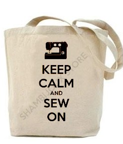 (Tote Bag) Keep Calm and Sew On