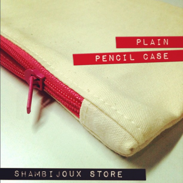 "Plain Pencil Case x Canvas (9"" x 4"") *made to order*"