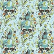 (Tula Pink) Acacia, Raccoon In Sky