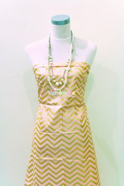 (Michael Miller) Glitz, Sleek Chevron Pearlized in Blush