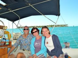 Our crew, just off Sunset Key