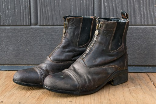Ariat Boots after cleaning with Sterling Essentials Leather Cleaner and Conditioner