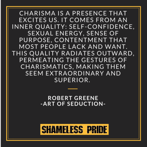 Art of Seduction - Charisma Quote