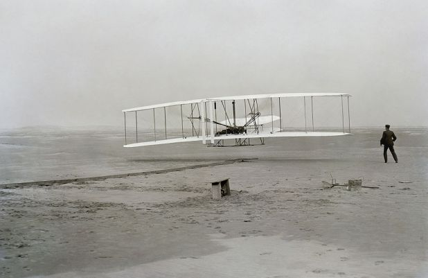 Wright Brothers take flight