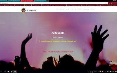 e24events.com | Event Management Website | 2017