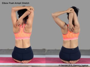 Elbow Push Armpit stretch Steps