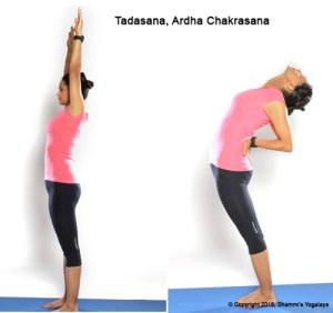 Tadasan Ardha Chakrasan Steps