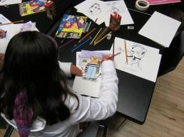 Cartoon art class