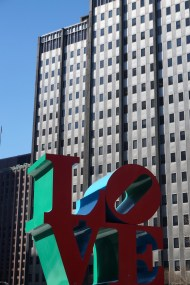 Robert Indiana's LOVE Sculpture