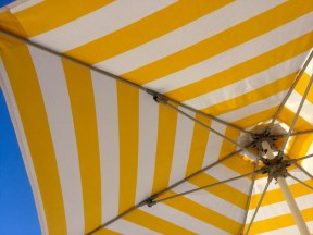 Yellow Stripey Umbrella