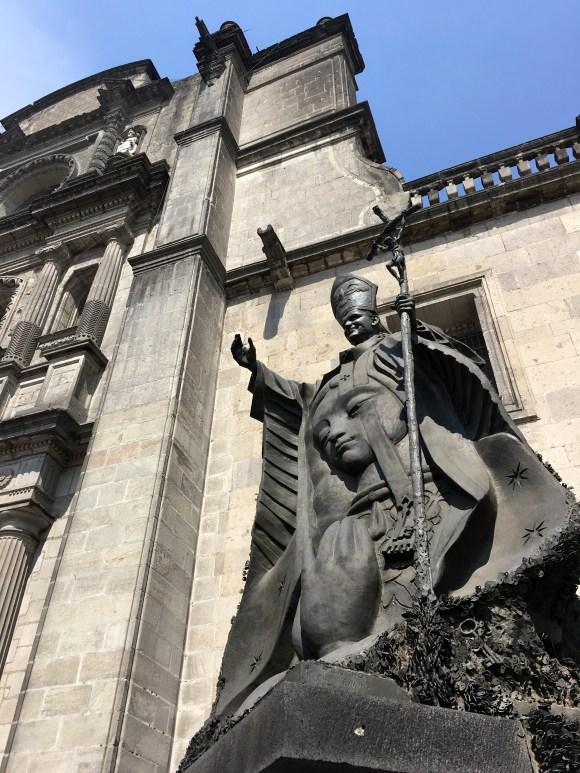 John Paul II Statue Outside of Catedral Metropolitana