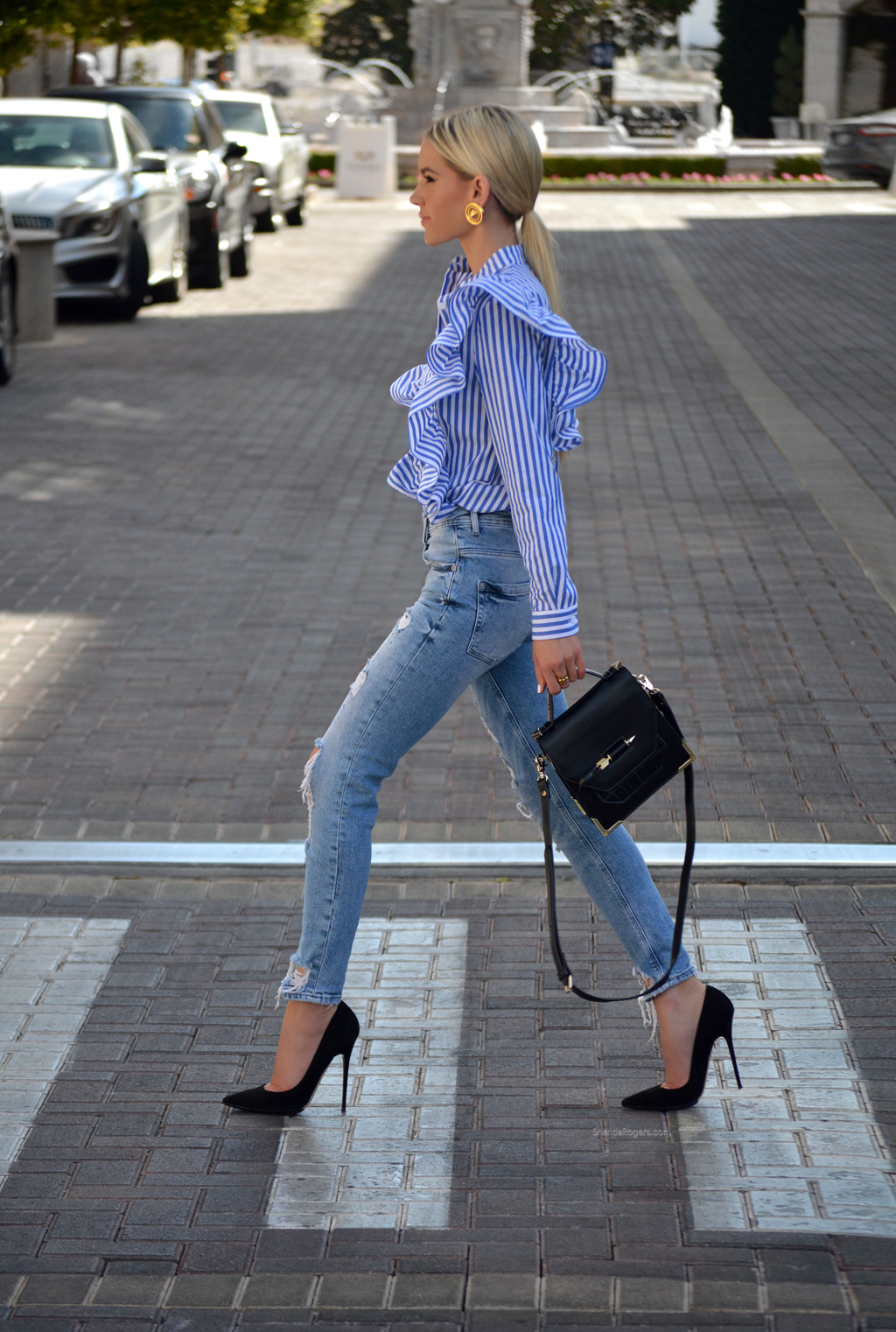 Stripes , Ruffles And Denim