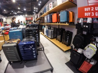 Victorinox Suitcases for sale! (photo taken in Citygate Outlet Mall in Tung Chung)