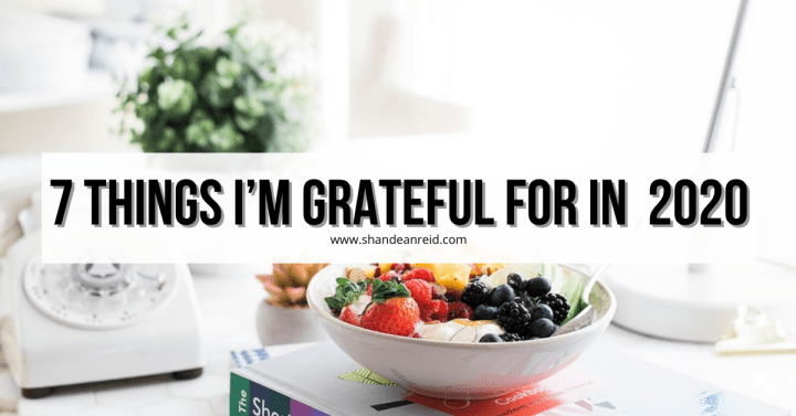 7 Things I'm Grateful For in 2020