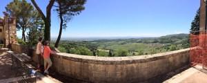 Panorama of Montepulciano view