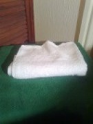 plain white hand towel