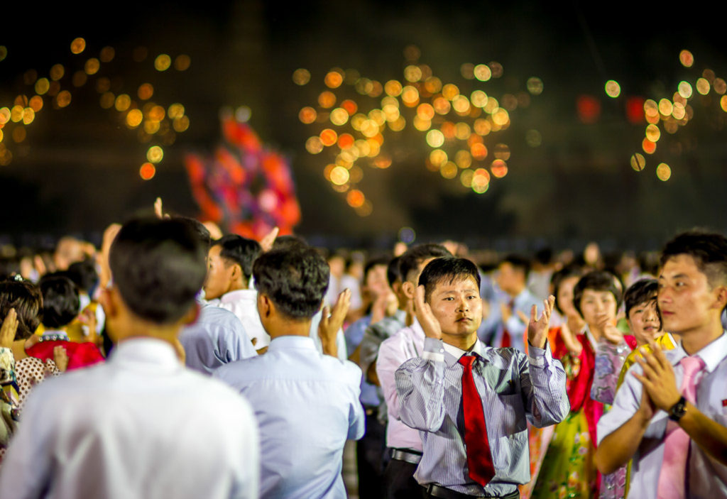 Fireworks post mass dance, Pyongyang, North Korea