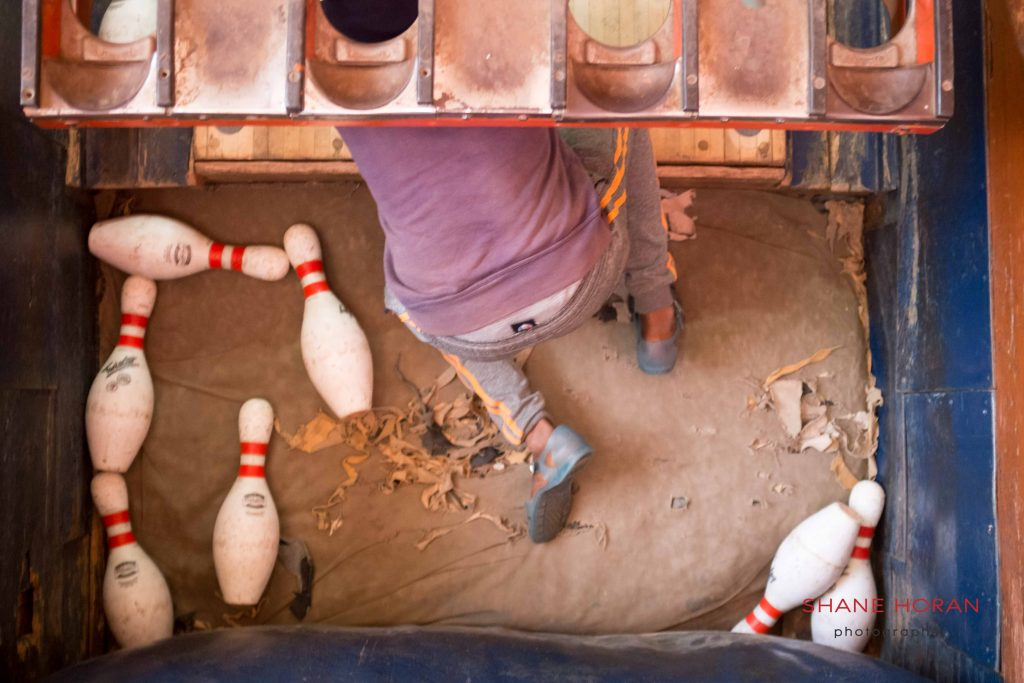 Child worker at the Asmara bowling center