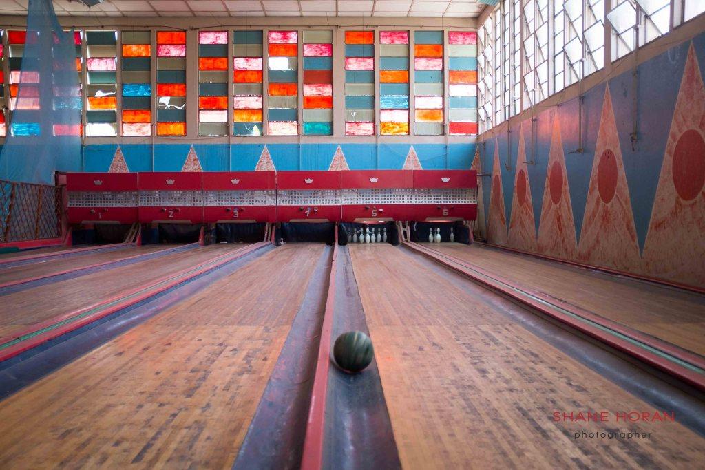 Lanes at the Asmara bowling centre