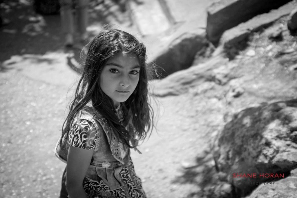 Yazidi girl in the village of Lalish, Iraqi Kurdistan