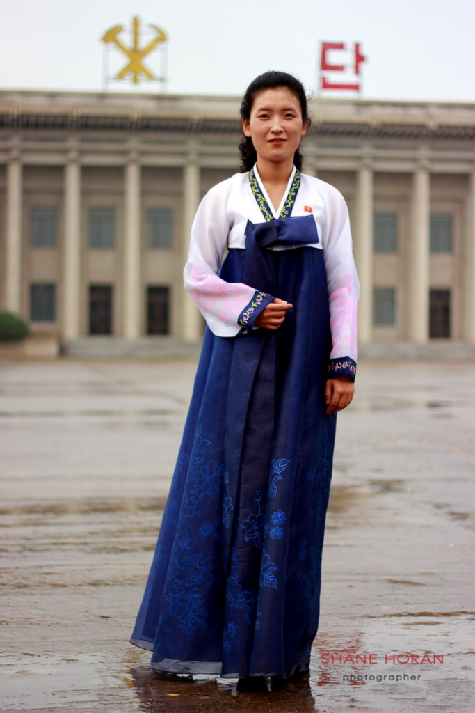 Guide at the Pyongsong revolutionary museum, North Korea