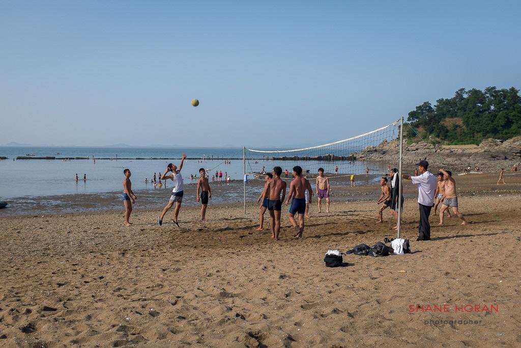 Beach Volleyball on Nampo Beach, North Korea