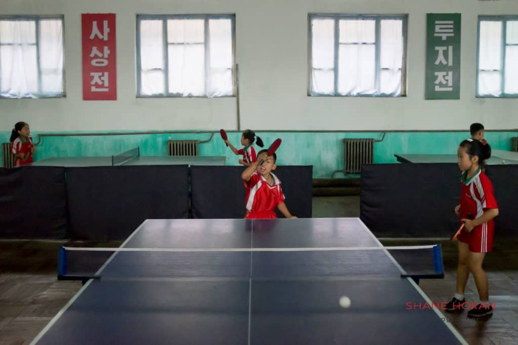 Schoolkids practicing hard at a primary school in Pyongsong. North Korea