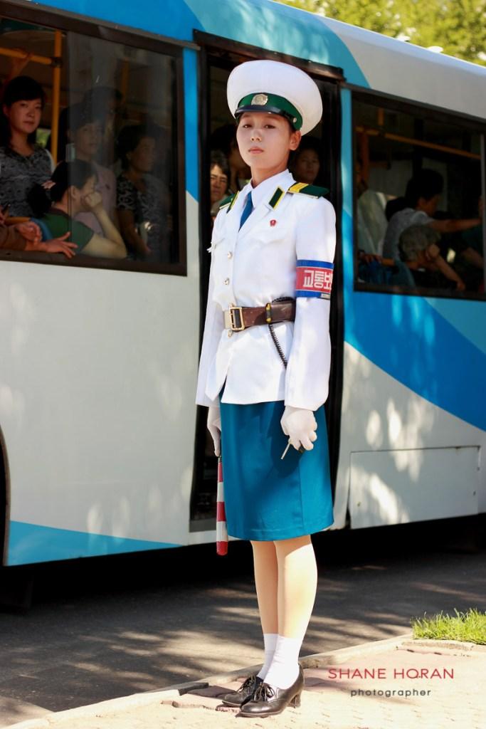 Pyongyang traffic cop