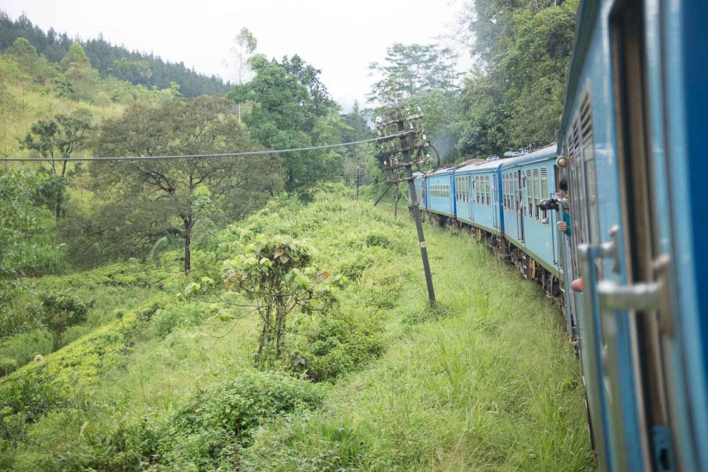 Sri Lankan express train en route to Kandy.