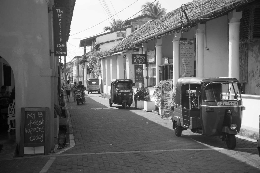 The streets of Galle, Sri Lanka.