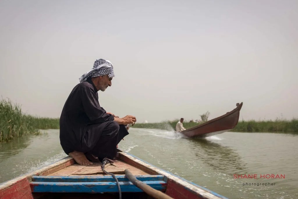 Boatman collects his thoughts, southern Iraq