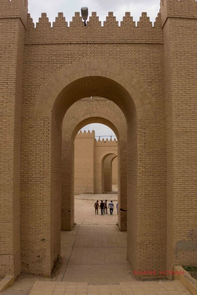 The restored palace at Babylon, Iraq