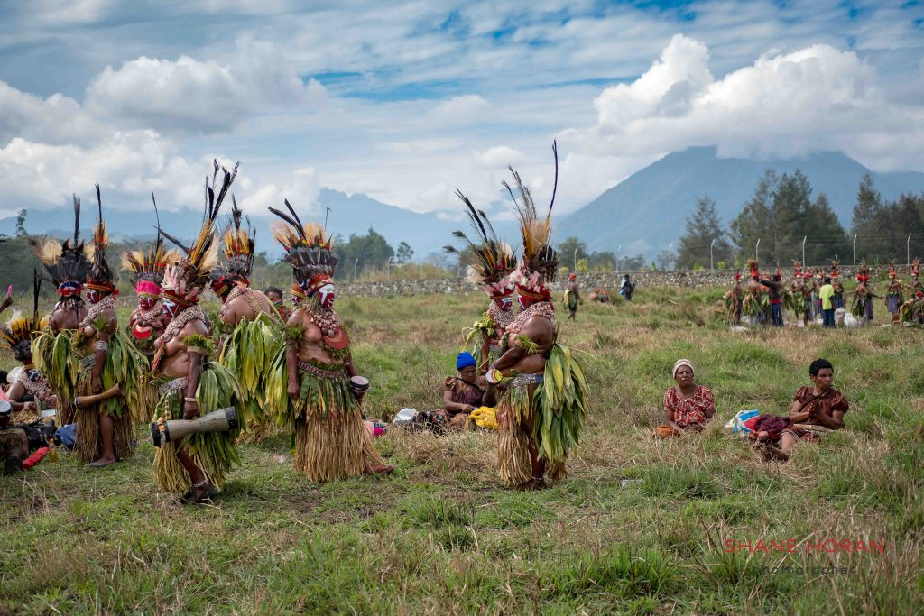 Ready and waiting for the Mt Hagen show Papua New Guinea