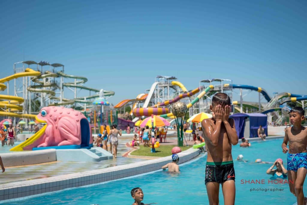 Outdoors, Munsu water park, Pyongyang, North Korea.