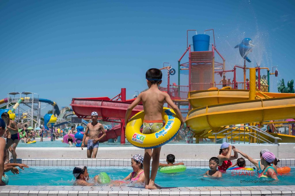 Munsu water park, Pyongyang, North Korea.