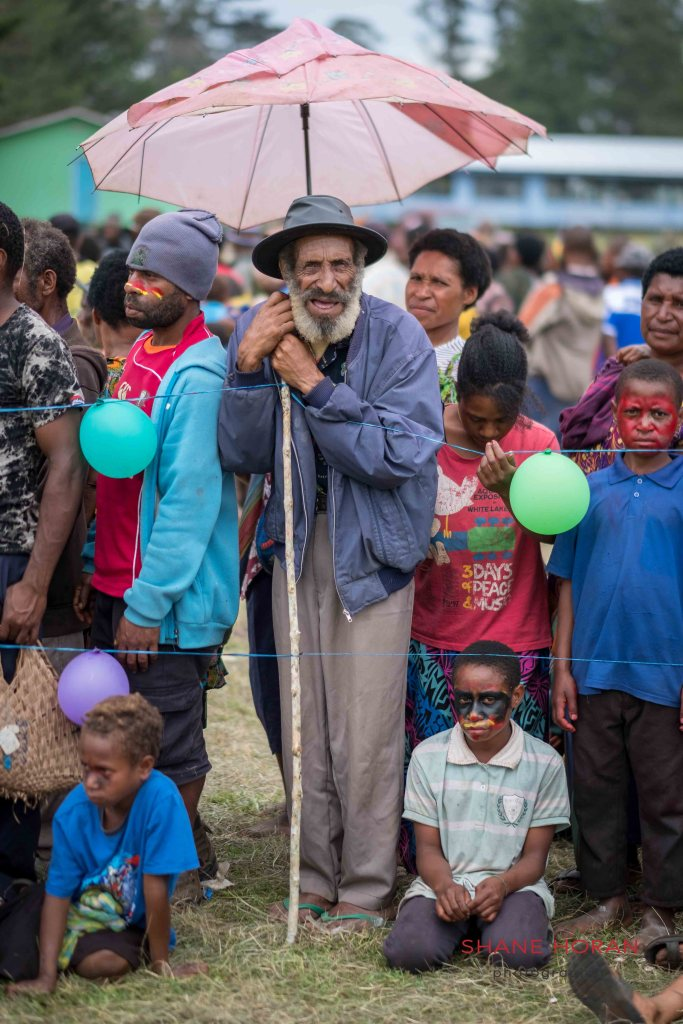 Spectating the school show, Papua New Guinea