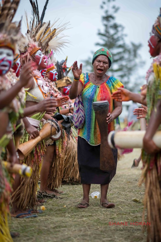 Local woman's tribe at a Papua New Guinea village