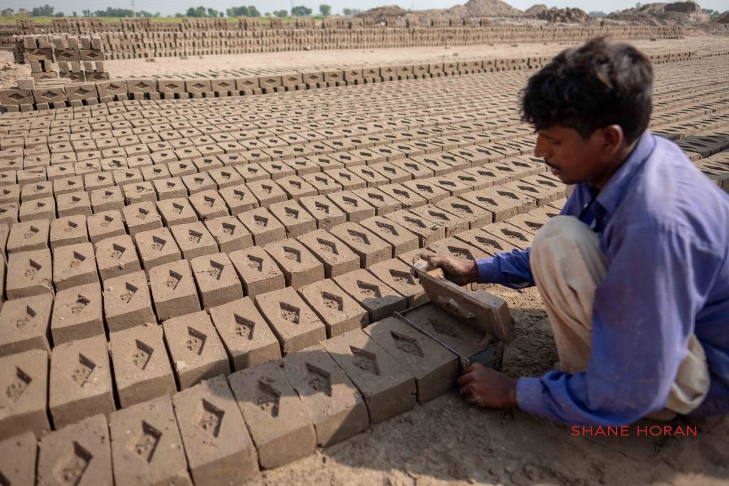 Hand made bricks, Pakistan