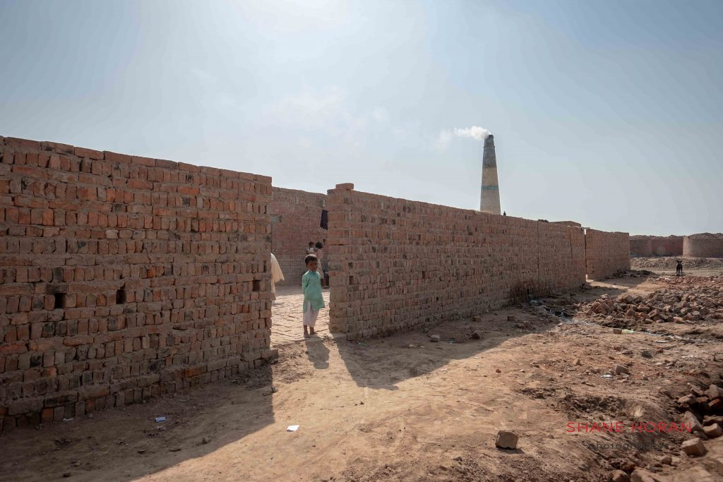 Kids on site at a brick factory, Pakistan