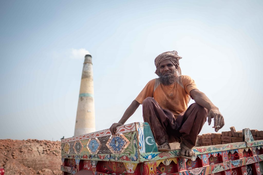 At a brick factory, Pakistan