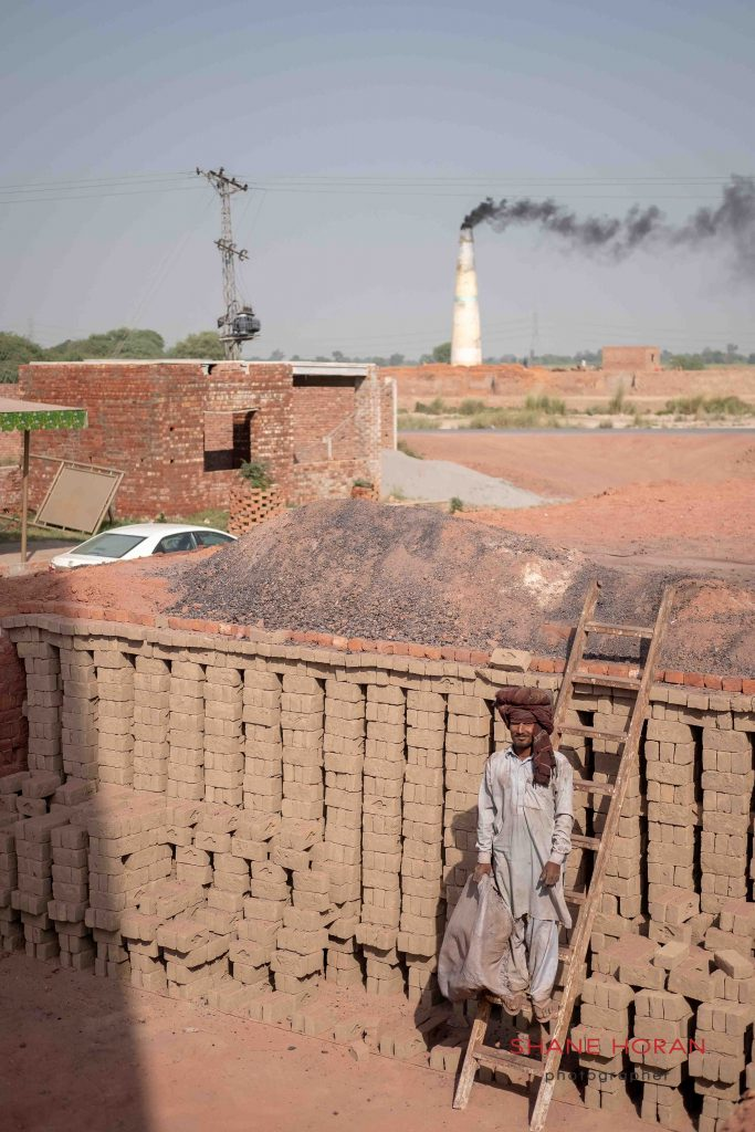 Mud bricks ready for cooking, Pakistan