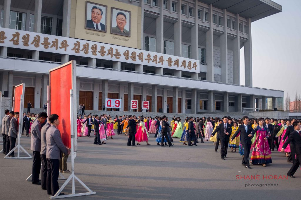 Mass dance at the Indoor stadium, Pyongyang, North Korea