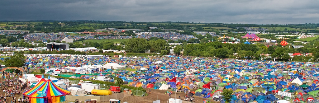 View from the Ribbon Tower at Glastonbury Festival