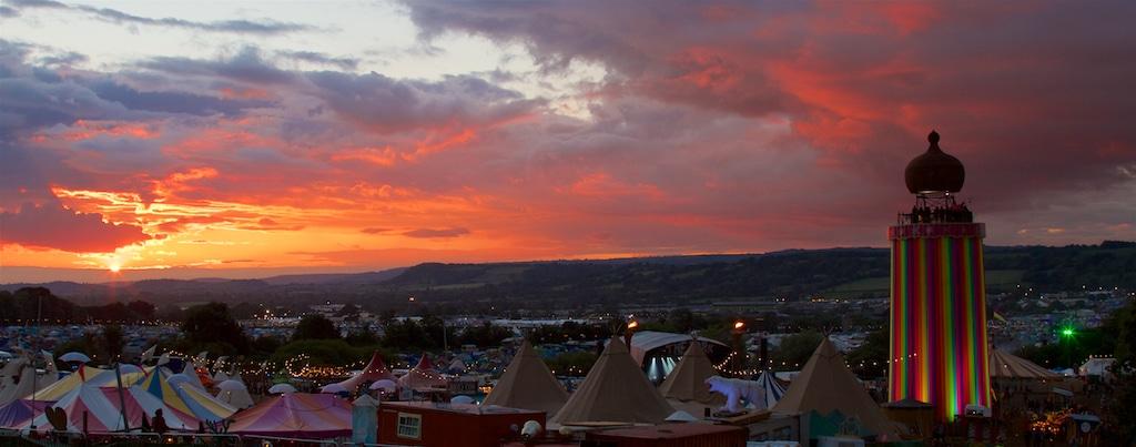 Glastonbury Festival - Glastonbury Sunset